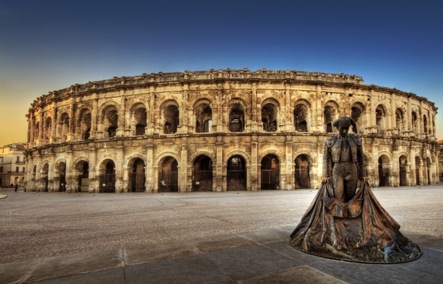 photo des arenes de Nimes